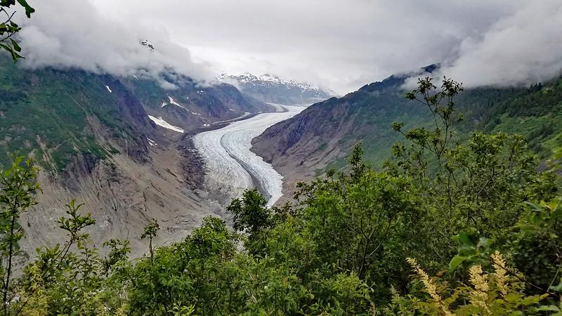 The toe of the Salmon Glacier