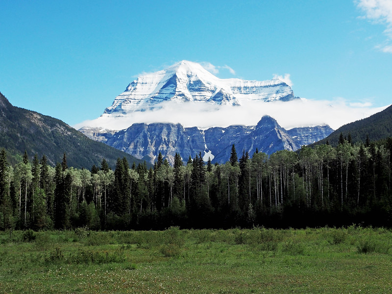 Mt Robson view near visitors center