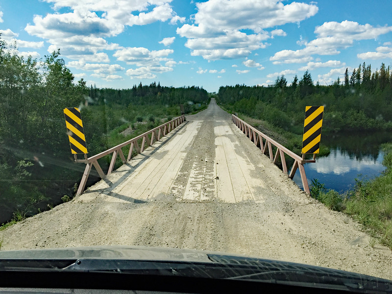 Typical one lane bridge on a NWT road