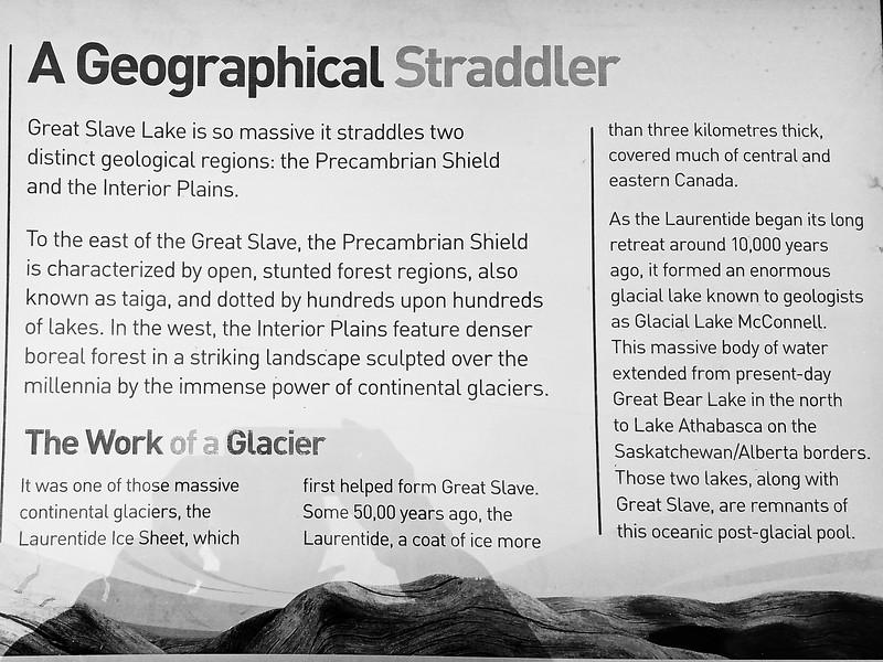 Great Slave Lake sign board