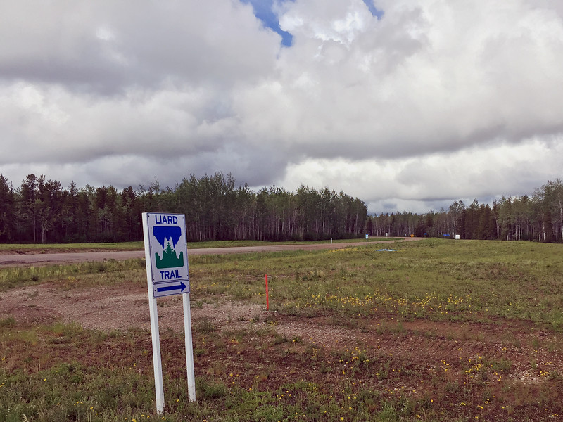 The Liard Trail is a dirt highway from Checkpoint in the NWT to the BC border