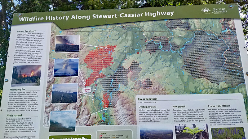 A wildfire story along the Cassiar Highway