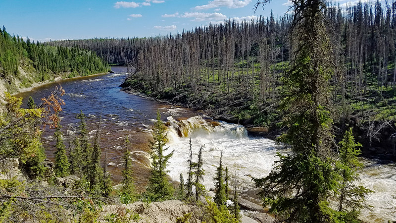 Coral Falls on the Trout River by Sambaa Deh campground