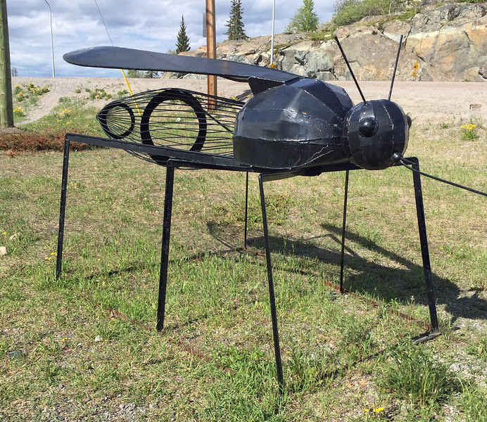 A mosquito statue, really?