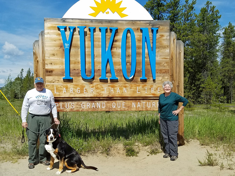 Official Yukon welcome sign