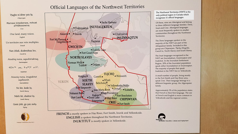 11 official languages in the Northwest Territories