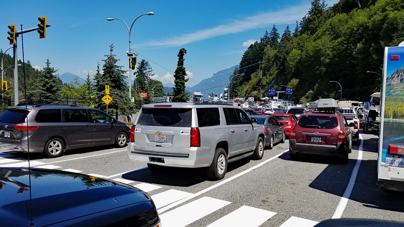 In line for ferry to Nanaimo from Horse Shoe Bay