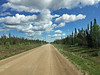 One of the unpaved  highways of the Northwest Territories