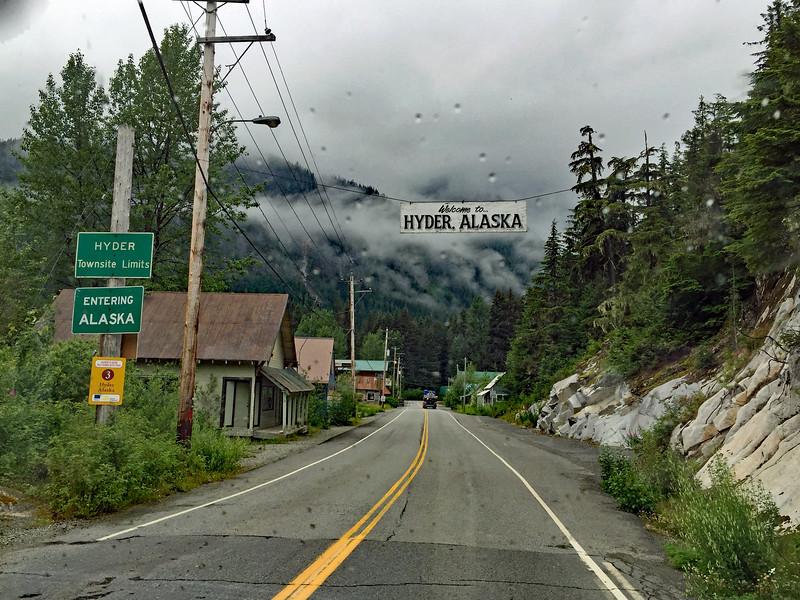 Stewart BC shares a border with Hyder Alaska