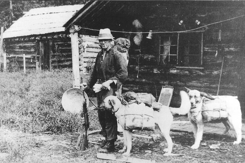 A Telegraph lineman and his companions
