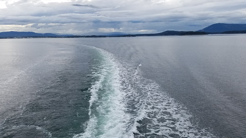 Leaving Vancouver Island on the way to Anacortes