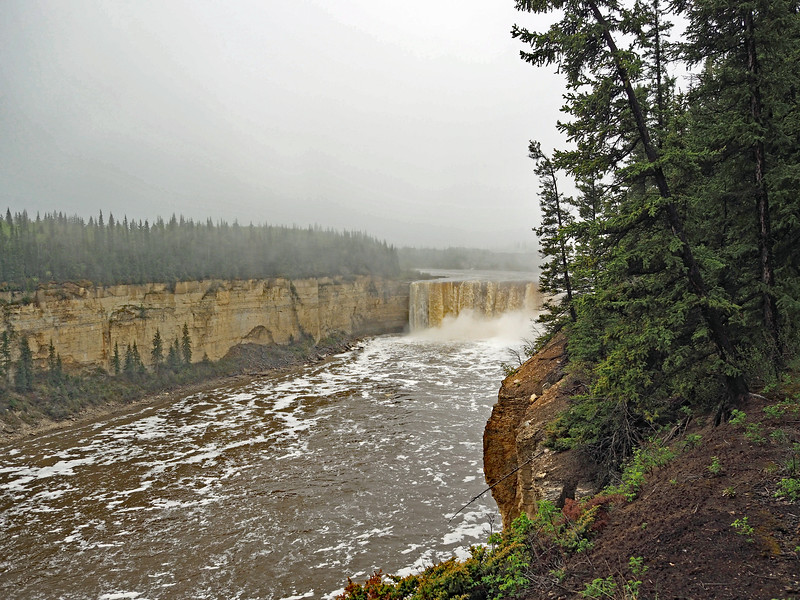 Alexandra Falls and Gorge upstream from Louise Falls