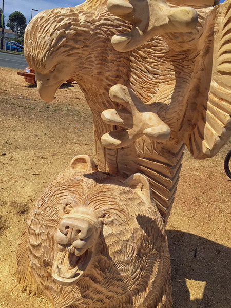 A wood carving contest in Campbell River