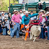 Mutton Bustin event at Belt Rodeo.