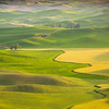 View of rolling hills from Steptoe Butte - Palouse region, southeast WA