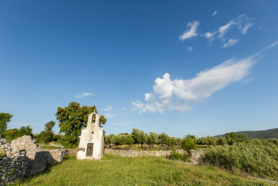 Small church found on Brac, Croatia