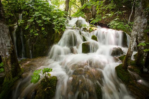 Plitvice National Park, Croatia - silver waterfall