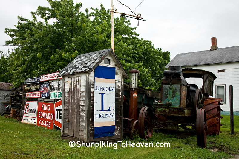 Old Relics on the Lincoln Highway, Benton County, Iowa