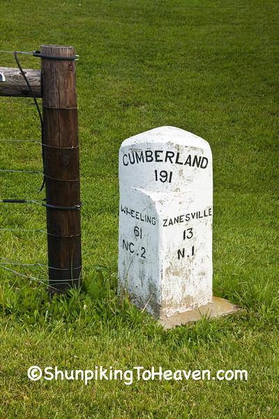 National Road Mile Marker, Muskingum County, Ohio