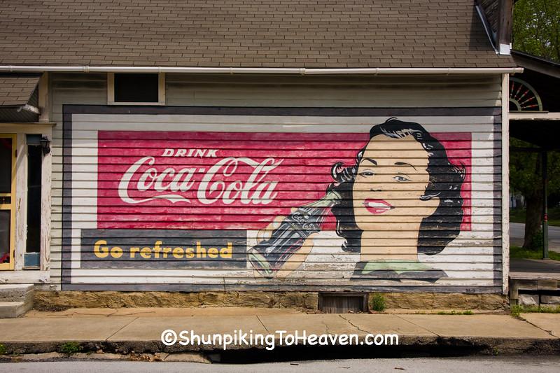 Coca Cola Mural on Old General Store, Jasper County, Missouri