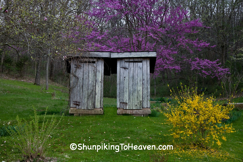 His and Hers Outhouses, Route 66, Phelps County, Missouri