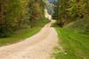 Autumn Gravel Road Scene, Sauk County, Wisconsin
