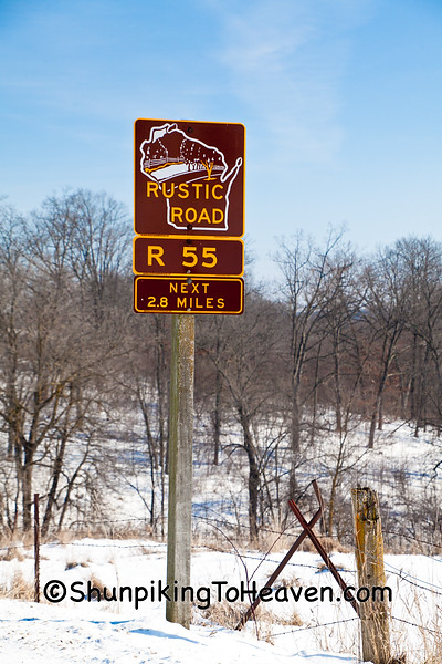 Sign for Rustic Road 55, Vernon County, Wisconsin