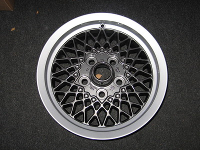 Two-tone 15 inch lattice. Outer is flat silver, inner is anthracite metallic grey