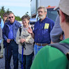 "Todd Eastin, who owns the goats, giving instructions to the 60+ volunteers who would be helping herd the goats up past Jane Bald on Roan Mountain.  <a href=""http://baatany.org/"">Please see this webpage</a> for more info."
