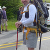 "Jeff Campbell, one of the volunteers, carrying a 20 pound bag of dog food up the mountain for the two watch dogs who live with the goats on Roan Mountain through the summer. They go through 20 pounds of food every week!!  <a href=""http://baatany.org/"">Please see this webpage</a> for more info."