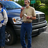 Todd giving instructions to the group of volunteers