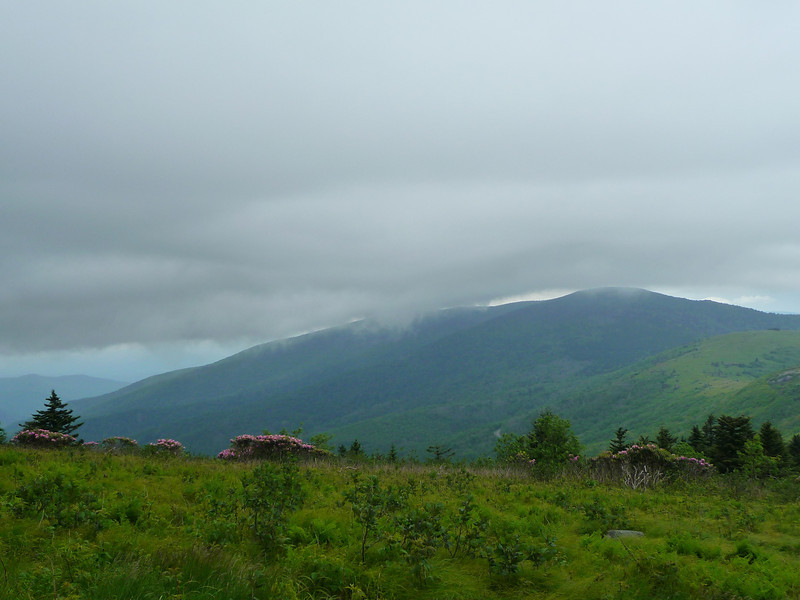 Clouds moving in over Roan Mountain