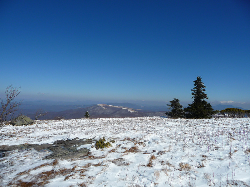 Wintertime view from Round Bald