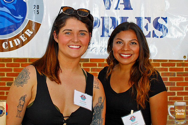 These ladies represent Blue Toad Hard Cider.