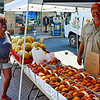 Peaches were also sold at the market.