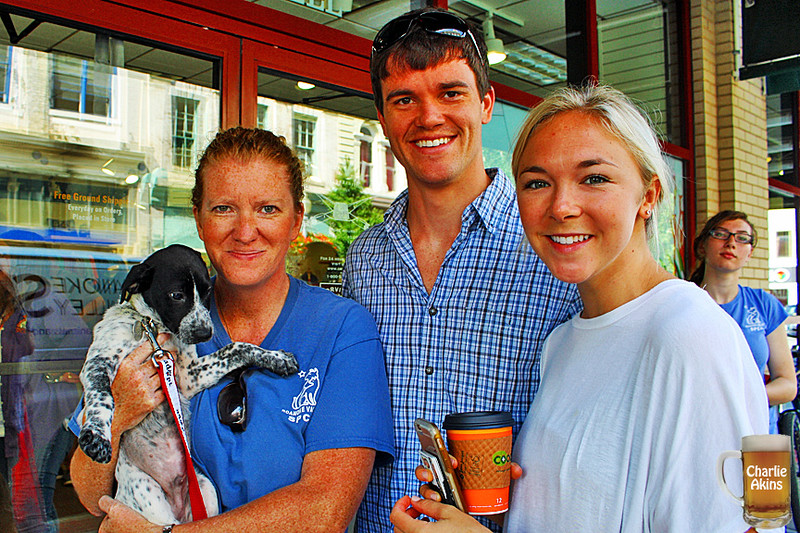 This couple loved this pup from the Roanoke Valley SPCA.
