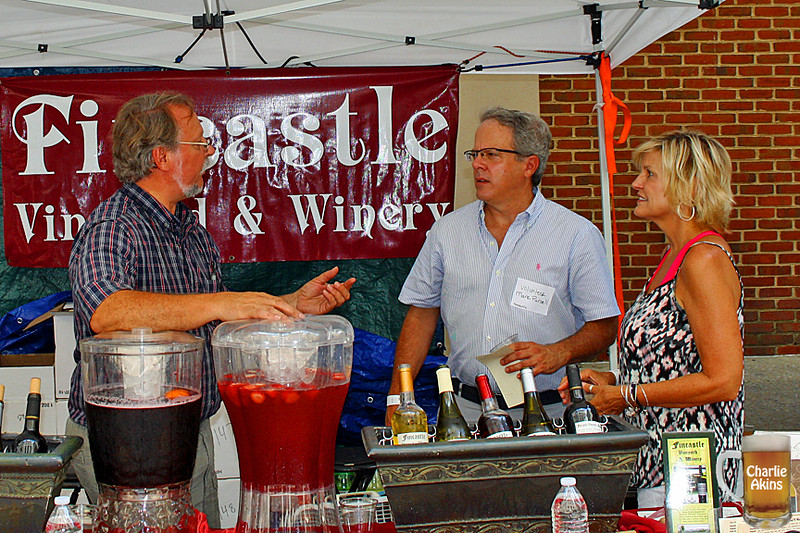 Fincastle Vineyard & Winery was at the festival.