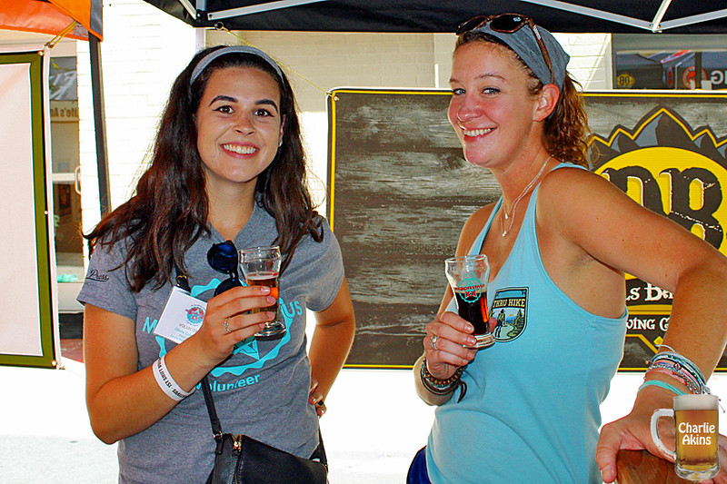 These ladies represent Devils Backbone Brewing Company.