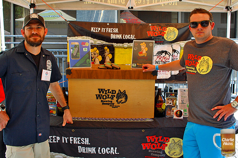 Wild Wolf Brewing Company was at the festival.