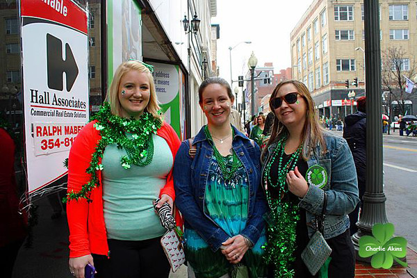 These ladies are dressed up for St. Patrick's Day