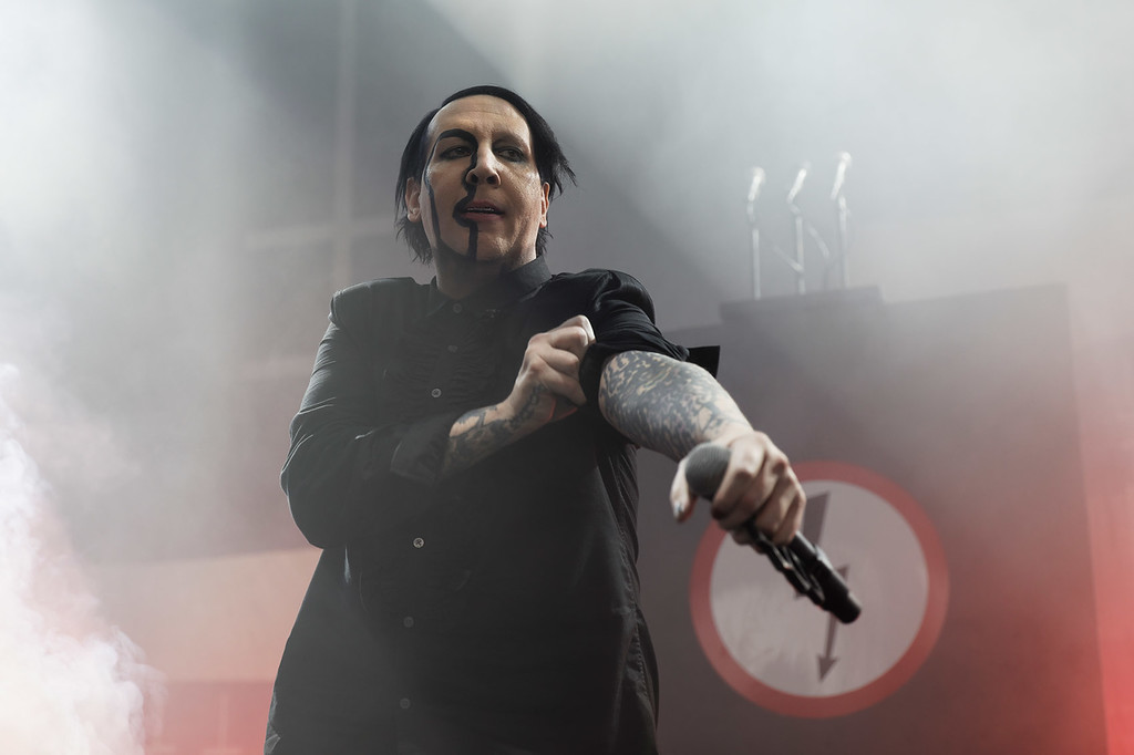 . Marilyn Manson at DTE on 7-11-2018. Photo credit: Ken Settle