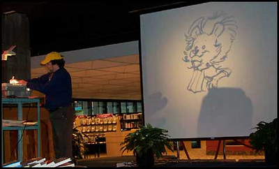 Orlando Public Library - cartooning talk
