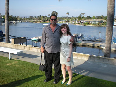 Wit and my daughter Claire at Danielle's wedding