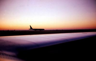 B-52 at dusk