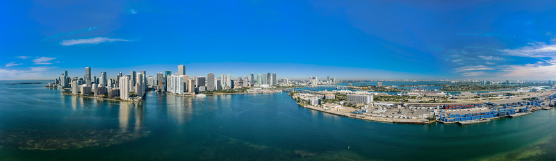 Downtown Miami, Fl Ultra Wide Angle