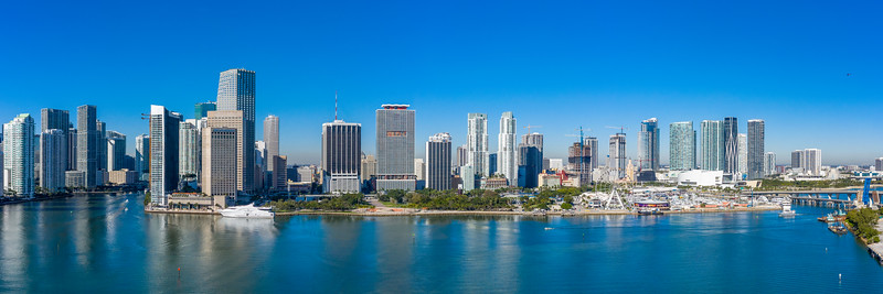 Downtown Miami, FL., North of Miami River