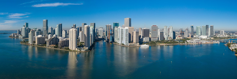 Downtown Miami, Florida on both sides of the Miami River