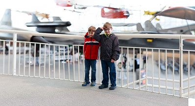 Cord and Zach at Museum of Flight