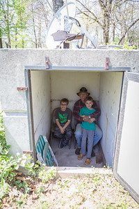 Checking out the tornado shelter