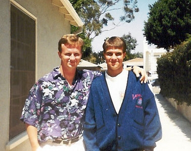 Hanging out during our California Trip - 1991